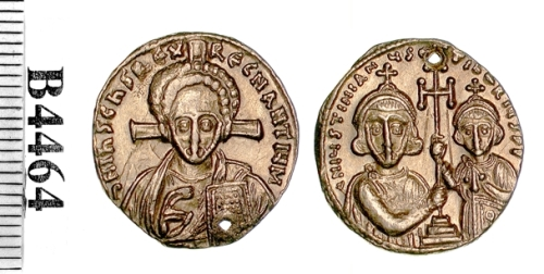 A gold solidus of the second reign of Emperor Justinian II, struck at Constantinople between 705 and 711, Barber Institute of Fine Arts B4464