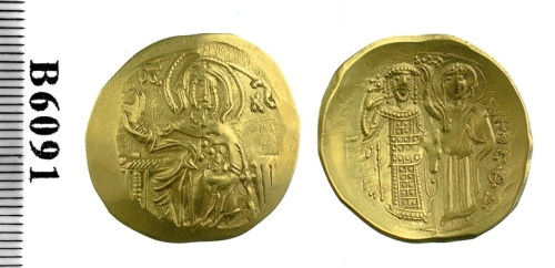 Gold hyperperon of John III Doukas Vatatzes struck at Magnesia between 1222 and 1254, Barber Institute of Fine Arts B6091