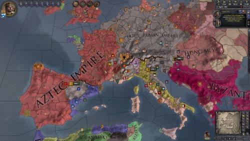 Screenshot of a Crusader Kings II game