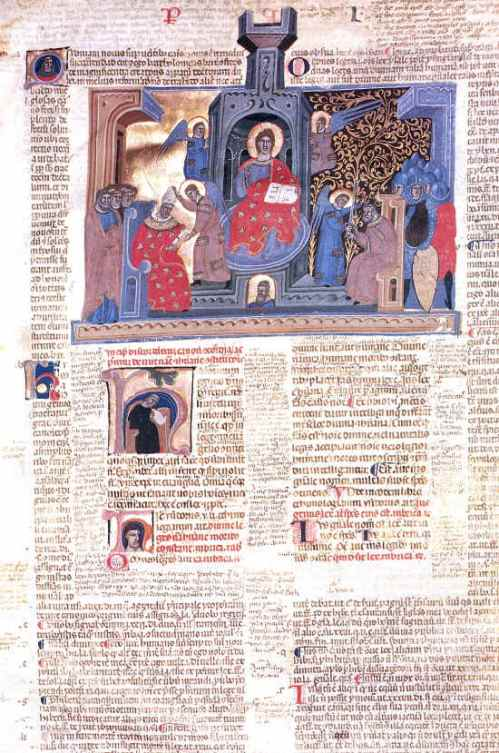 A page from a glossed fourteenth-century of the Decretum, Cesena, Biblioteca Malatestiana, Pluteo II sin. cod. 1, fol. 2r.