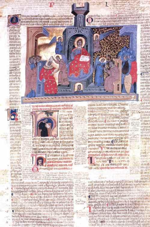 A page from a glossed fourteenth-century of the Decretum, Cesena, Biblioteca Malatestiana, Pluteo II sin. cod. 1, fol. 2r.