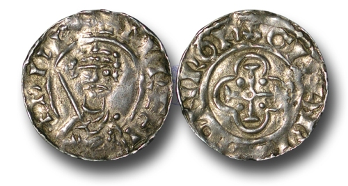 A silver penny of William II struck at Rochester by Guthrothr between 1089 and 1092