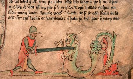 Illustration from a manuscript of Icelandic sagas