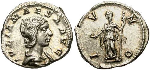 Silver antoninianus of Empress Julia Mæsa struck at Rome 223-226