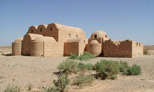 The desert palace of Qasr Amra, in modern-day Jordan