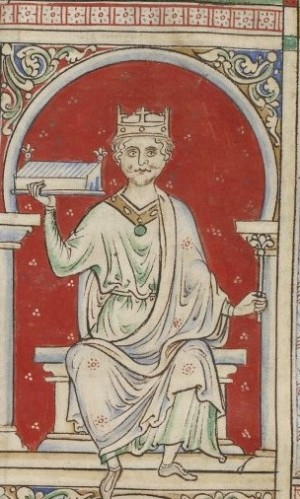 Portrait of William Rufus from London, British Library, MS Royal 14 C VII, fo. 8v