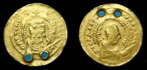 Imitation of an Axumite gold coin of about 400