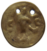 "Gold imitation of a Roman sestertius, R. Darley ""Indo-Byzantine trade, 4th-7th centuries A. D.: a global history"", unpublished Ph. D. thesis (University of Birmingham 2009), cat. no. 57"