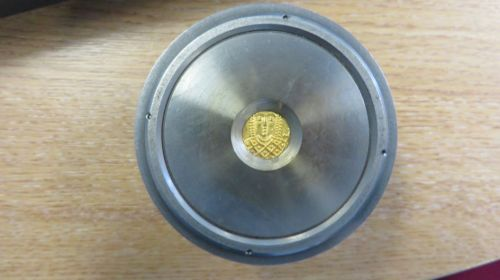 Gold solidus of Empress Eirini at Constantinople set up for analysis in a Bruker S8 TIGER XRF analyser