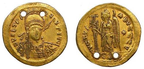Imitation of a gold solidus of Justinian I