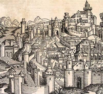 Early woodcut image of Ravenna