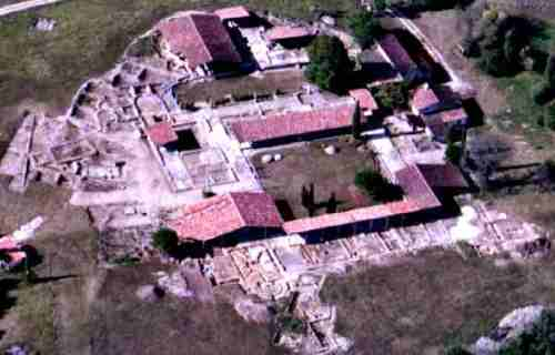 The Gallo-Roman site of Séviac as it currently is, seen from the air