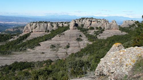 View of the Serra de l'Obac, Barcelona, from Wikimedia Commons