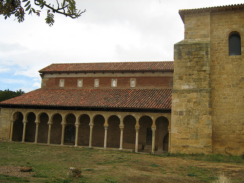 The supposedly 'Mozarabic' church of San Miguel d'Escalada, Asturias