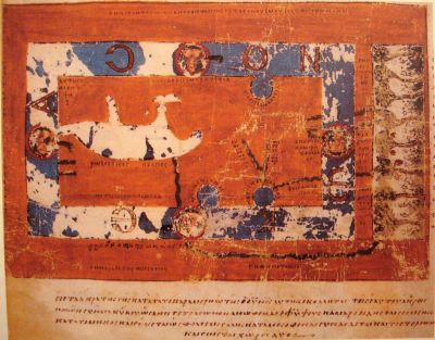 The world map from the Christian Topography of Cosmas