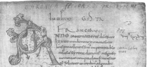 One of the manuscripts of Flodoard's Annals, Biblioteca di Vaticano MS Reg. Lat. 633, fo. 42v