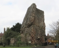 Corner view of the ruins of Bridgnorth Castle
