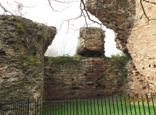 Interior of the ground floor of the ruined tower of Bridgnorth Castle