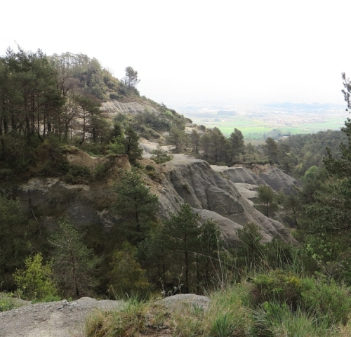 View from the plateau of the Turó del Castell de Gurb