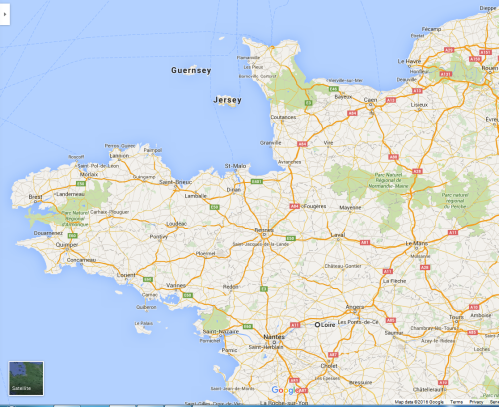 Google map of Brittany