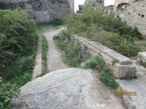Internal view of arrangements in the Castell de Taradell