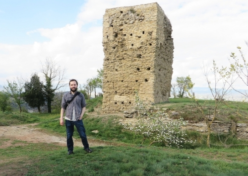Jonathan Jarrett standing at the Castell de Tona