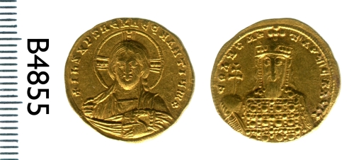 Gold solidus of Constantine VII struck in Constantinople, most likely between 945 and 959, Barber Institute of Fine Arts B4855