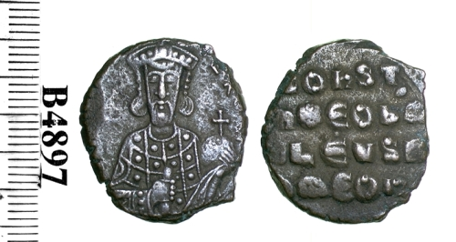 Copper-alloy follis of Constantine VII , struck at Constantinople probably between 944 and 959, Barber Institute of Fine Arts B4597