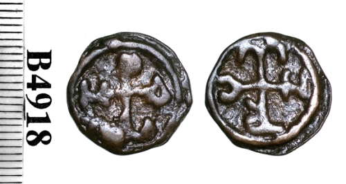 Bronze coin of Constantine VII struck at Cherson between 913 and 959, Barber Institute of Fine Arts B4918