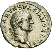 Silver denarius of Emperor Vespasian struck at Rome in 69-71, Beast Coins Z2844
