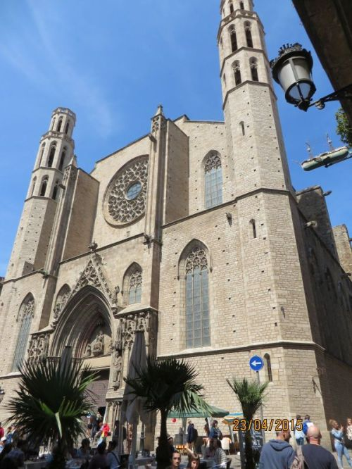 Exterior of Santa Maria del Mar, Barcelona