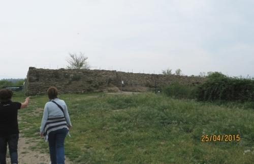 The Visigothic wall at l'Esquerda, Roda de Ter