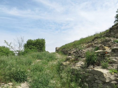 Guard-tower at l'Esquerda, Roda de Ter, viewed from down the slope