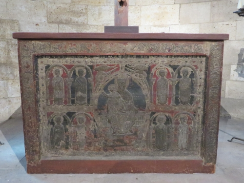 Altar frontal from Santa Maria de Ginestarre, near Lleida, Catalonia, in the Cloisters, Metropolitan Museum of New York