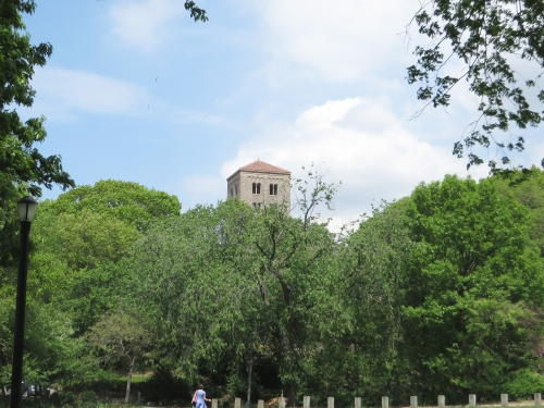 Distant view of the Cloisters, Metropolitan Museum of New York