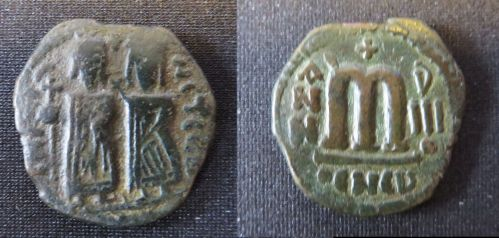 Probable coin of the Persian occupation of Syria in the reign of the Emperor Phocas (602-610), Leeds University Library, Thackray Collection, uncatalogued