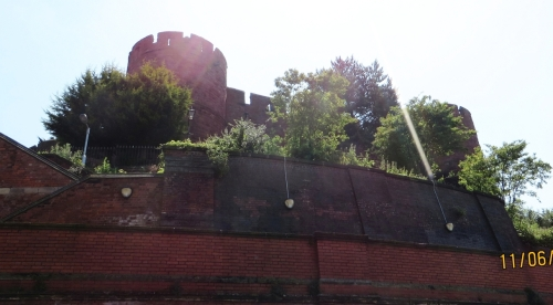 Shrewsbury Castle seen from below