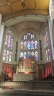 Altar, reredos and stained glass windows in St-Peter-at-Leeds