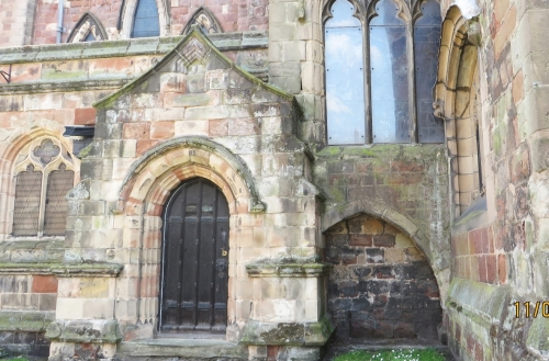 Exterior doorway to the chapel of St Anne at St Mary's Shrewsbury