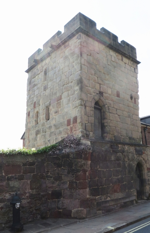 Attingham Town Walls Tower, on Shrewsbury town walls