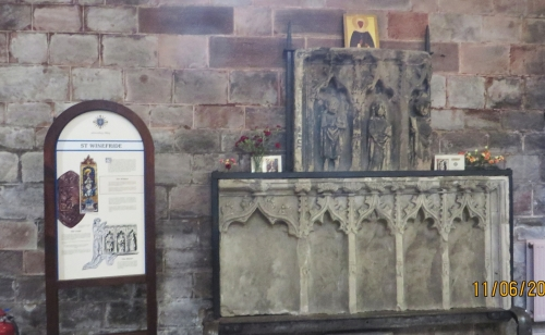 Tomb of St Winifrid in Holy Cross Abbey, Shrewsbury