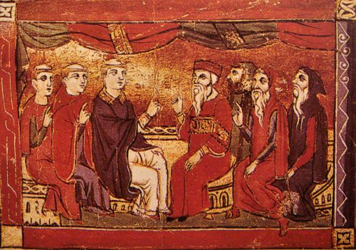 Medieval image of the Council of Chalcedon, 451