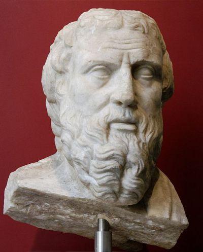 Roman bust of Herodotus in the Palazzo Massimo del Terme, Museo Nazionale di Roma