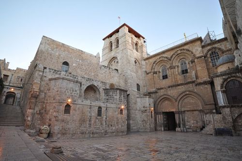 Exterior of the Church of the Holy Sepulchre, Jerusalem
