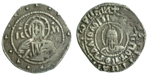 Silver half-hyperperon of Emperor John VIII struck at Constantinople in 1423-1448, Barber Institute of Fine Arts B6492