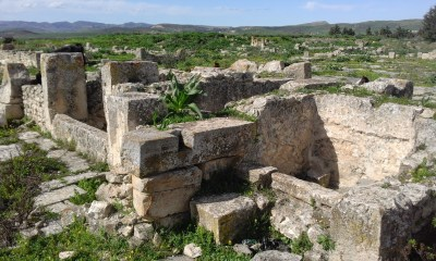 Remains of the Christian church at Henchir al-Faouar in Tunisia