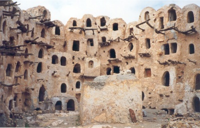 The fortified granary of Qasr Kabaw in the Jebel Nafusa