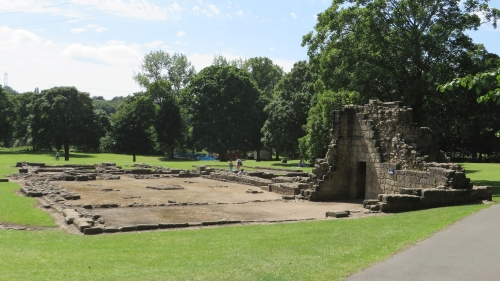 Ruins of the guesthouse at Kirkstall Abbey