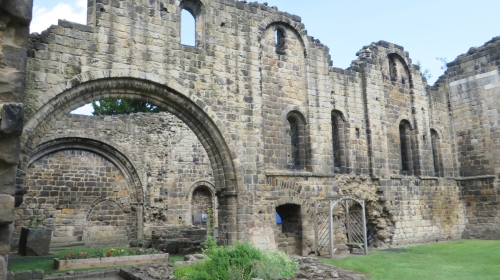 Arcs and archways in Kirkstall Abbey church