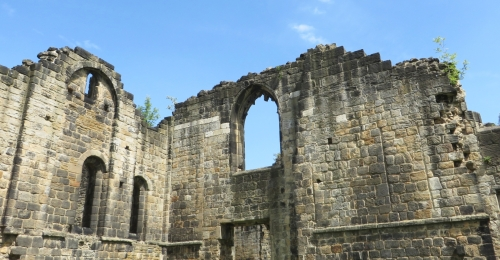 Junction of two walls at Kirkstall Abbey